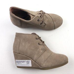 TOMS Womens Desert Wedge Boots DRA01497